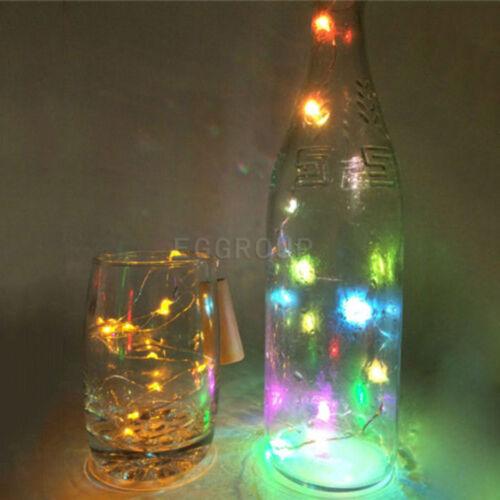 Cork Shaped 15//20 LED String Fairy Night Light Wine Bottle Lamp With Battery Ak