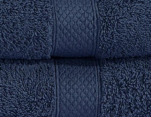 8 Pcs Serviette Bale Set 100/% coton peigné doux visage main serviettes de bain 600GSM UK