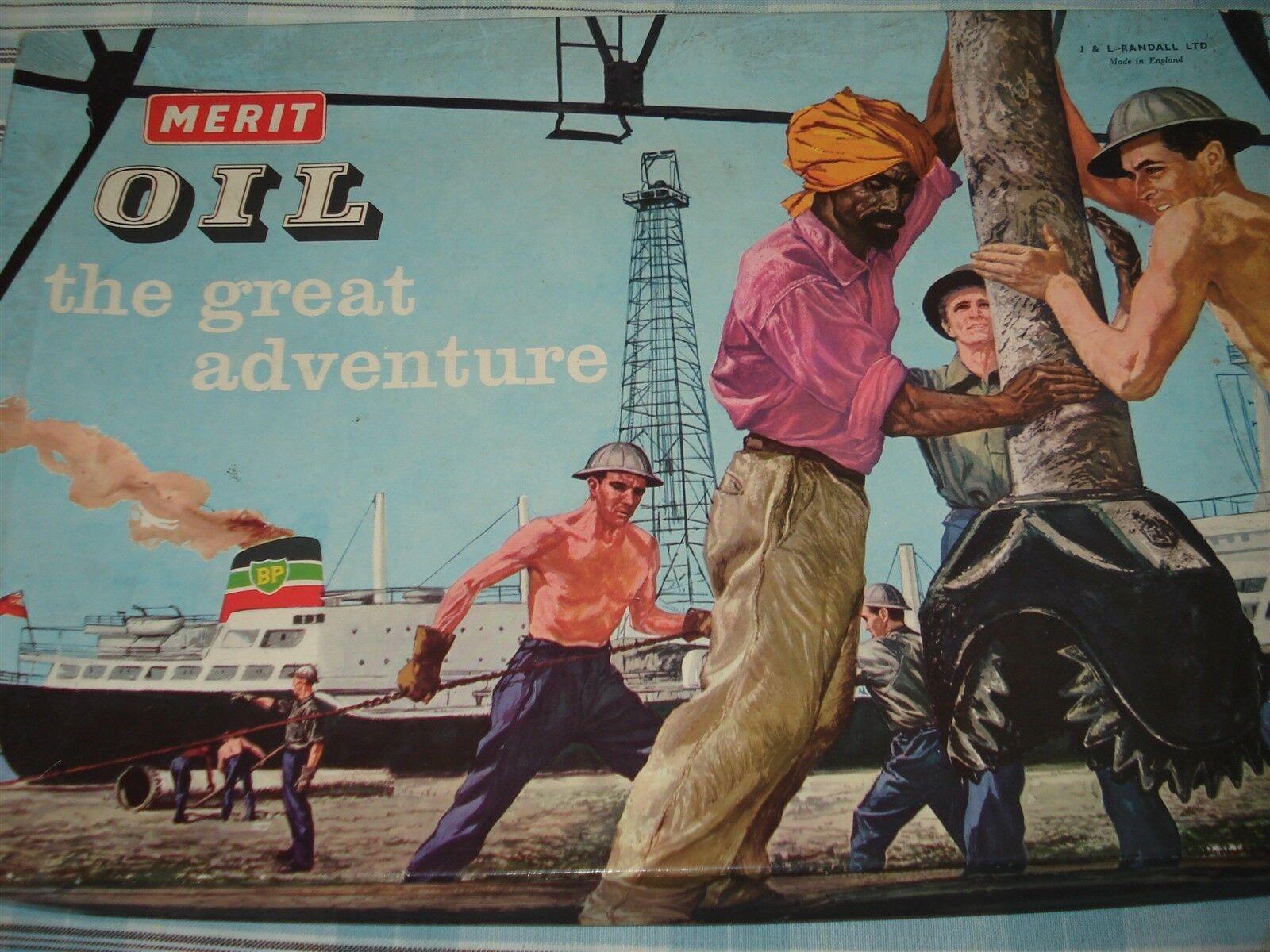 OIL GAME - THE GREAT ADVENTURE - OIL ADVENTURE GAME - MERIT - COMPLETE - 100%
