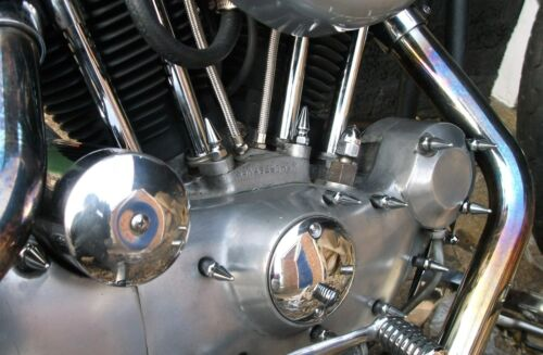 HARLEY SPORTSTER IRONHEAD 77-85 CHROME SPIKE ENGINE COVER BOLTS chopper bobber
