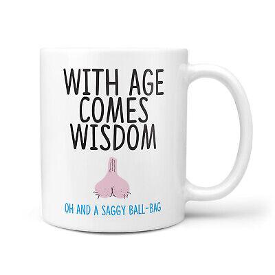 30th birthday mug,with age comes wisdom rude funny mug gift for him//men//gift
