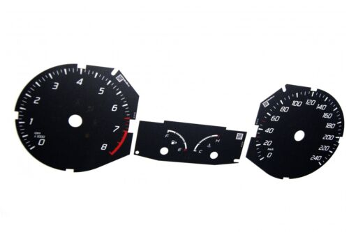 Ford Focus MK3 converted from MPH to Km//h BLACK Dial Conver Replacement dial