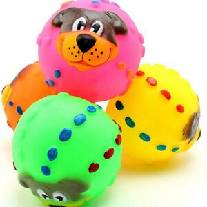 Pet-Dog-Giggle-Ball-Tough-Treat-Training-Chew-Sound-Activity-Toy-Squeaky-ZN