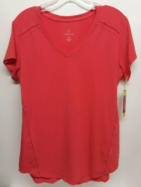 TANGERINE Women's Bright Coral Pink Shirt Size Medium M Active Tee Athletic NWT