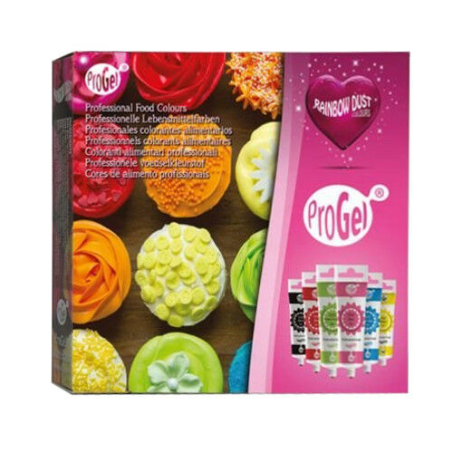 3 x Rainbow Dust 6pk ProGel Box Set Concentrated Edible Food Cake Icing Colours