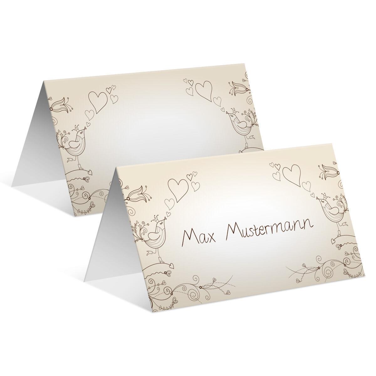 Tischkarten Hochzeit - Liebesbaum - Platzkarten Namenskarten | Erste Qualität  | Ein Gleichgewicht zwischen Zähigkeit und Härte