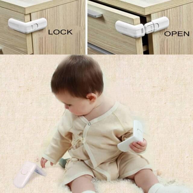 10x Pet Baby Child Prevent Nip Fridge Toilet Drawer Cabinet Cupboard Safety Lock