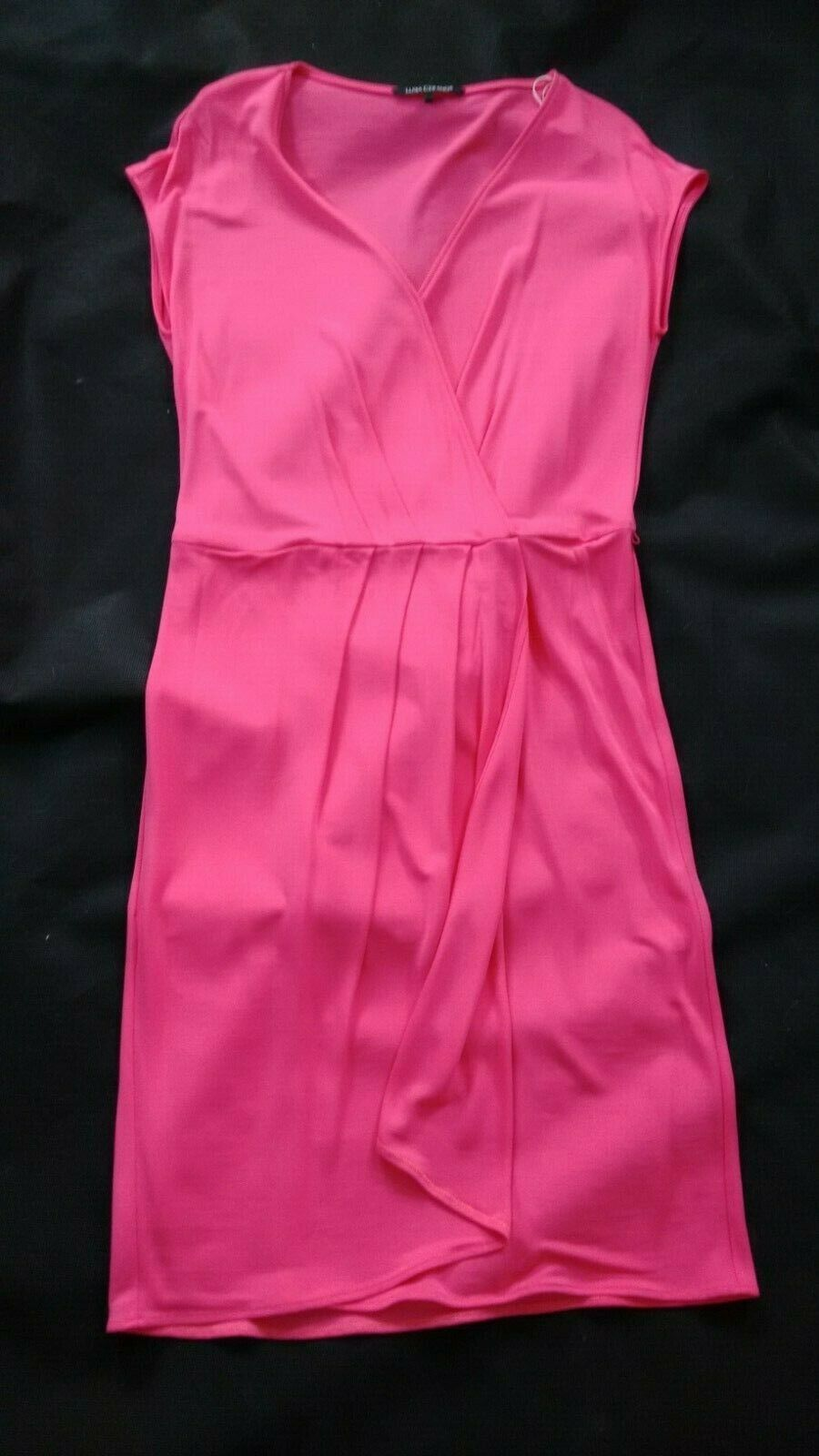 LUISA CERANO Kleid Sommerkleid Rosa Rosa  Gr 40 Falten Shirtkleid NEU