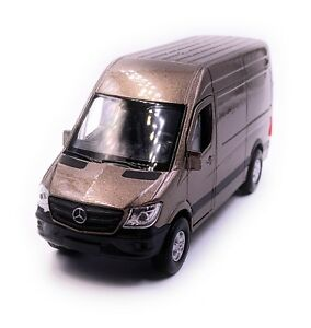 Mercedes-Benz-Sprinter-Panel-Van-Gold-Model-Car-Scale-1-3-4-Licensed
