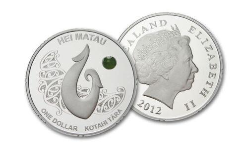 2012 Māori Art Hei Matau Silver Proof Coin New Zealand