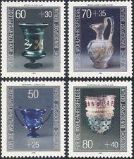 Germany (B) 1986 Welfare Funds/Glassware/Glass/Vase/Bowl/Beaker 4v set (n21381)