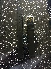 Genuine Leather Black Extra Long Watch Strap  16mm