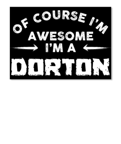 Details about  /I Am Awesome Dorton Family Name Sticker Landscape