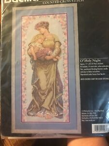 Bucilla-O-039-Holy-Night-Counted-Cross-Stitch-Kit-41546-Mary-Baby-Jesus-Retired