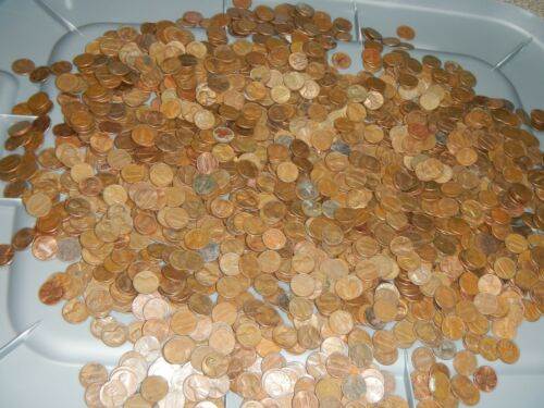 1 roll 50 Lincoln pennies Unsearched mixed 1959-1982 Copper penny AU FINE Wheats