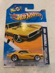 2012 Hot Wheels #105 Muscle Mania-GM /'67 PONTIAC FIREBIRD 400 Yellow Variant MC5
