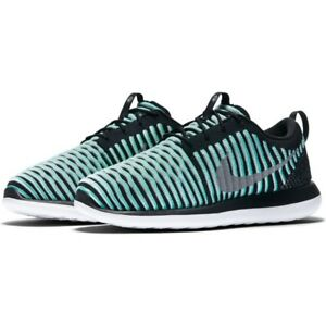 26118e41a2ca Nike Roshe Two Flyknit (GS) Shoes Green Glow Metallic Silver ...