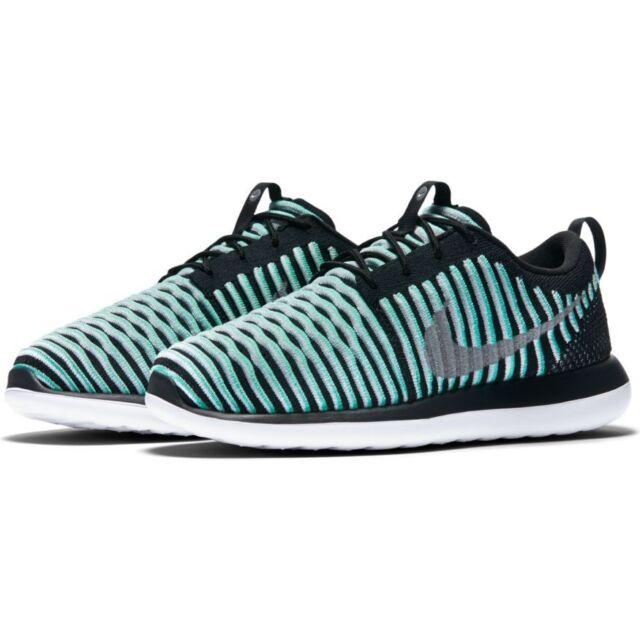 Nike Roshe Two Flyknit (GS) Shoes Green Glow/Metallic Silver Multiple Sizes
