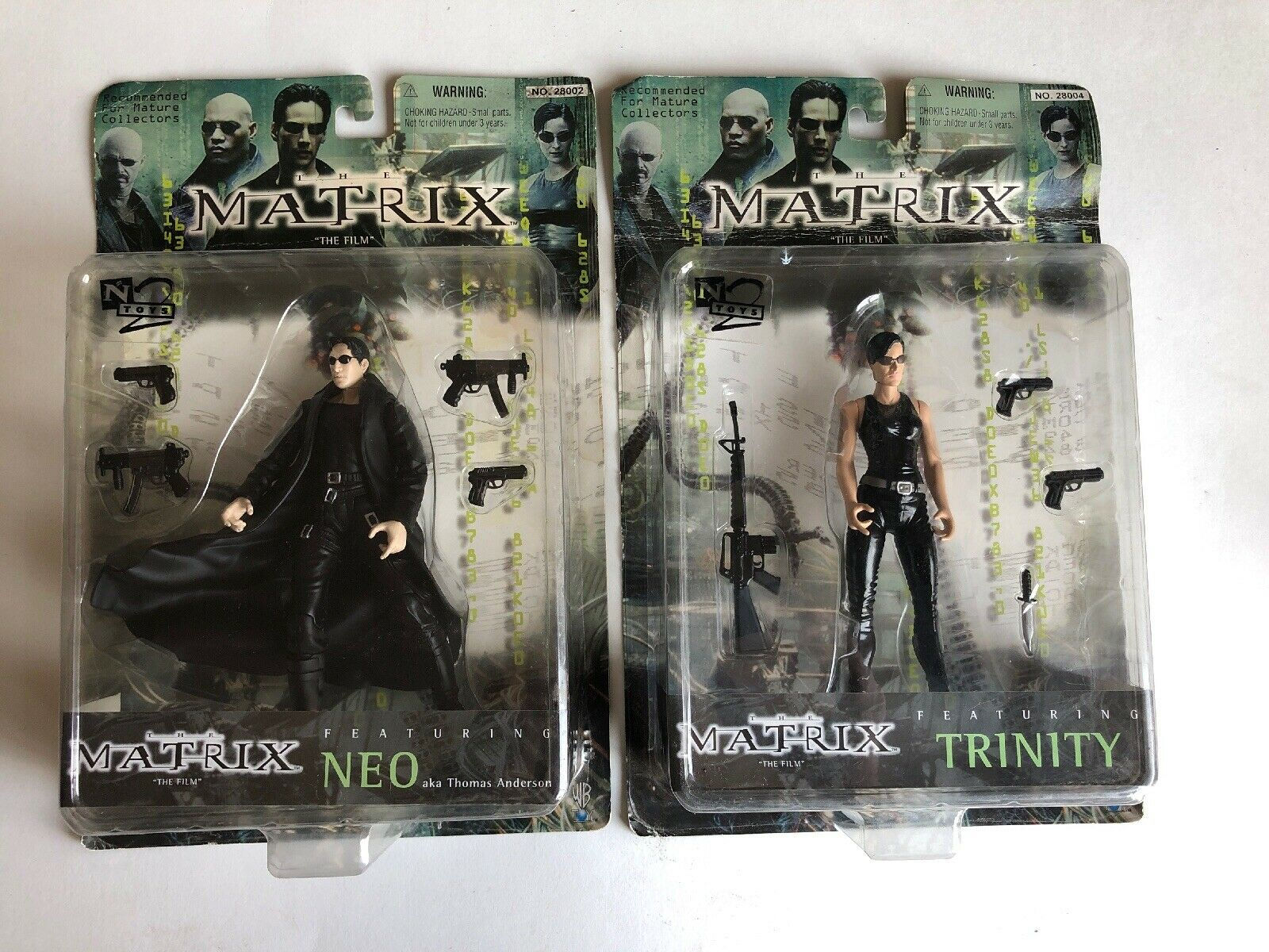 """The Matrix """"The Film"""" N2 Toys Bundle Neo And Trinity"""