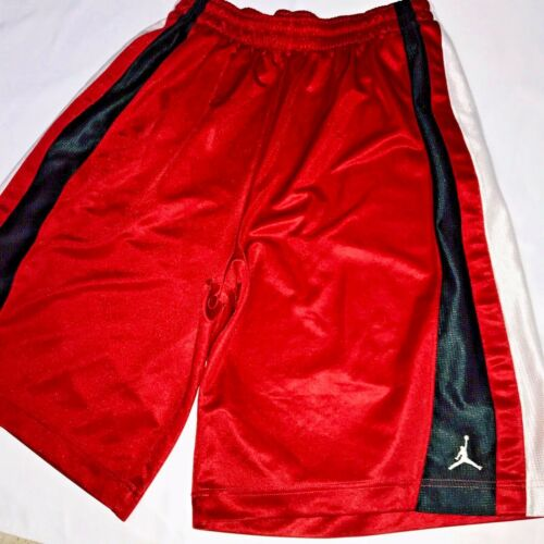 Super Shorts Basketball sexy Dazzle Nike Larg suave Jordan rojo blanco Rare sedoso wTgwqaR