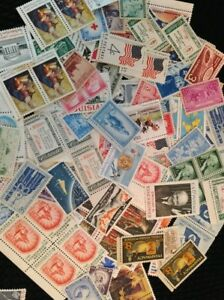 Collection-of-100-Mint-U-S-Stamps-Post-Office-Fresh-MNH