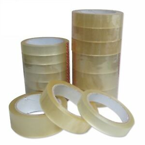 """25mm 1"""" Sellotape Cellotape Clear Packing Parcel Strong Tape 66M MULTILISTING"""