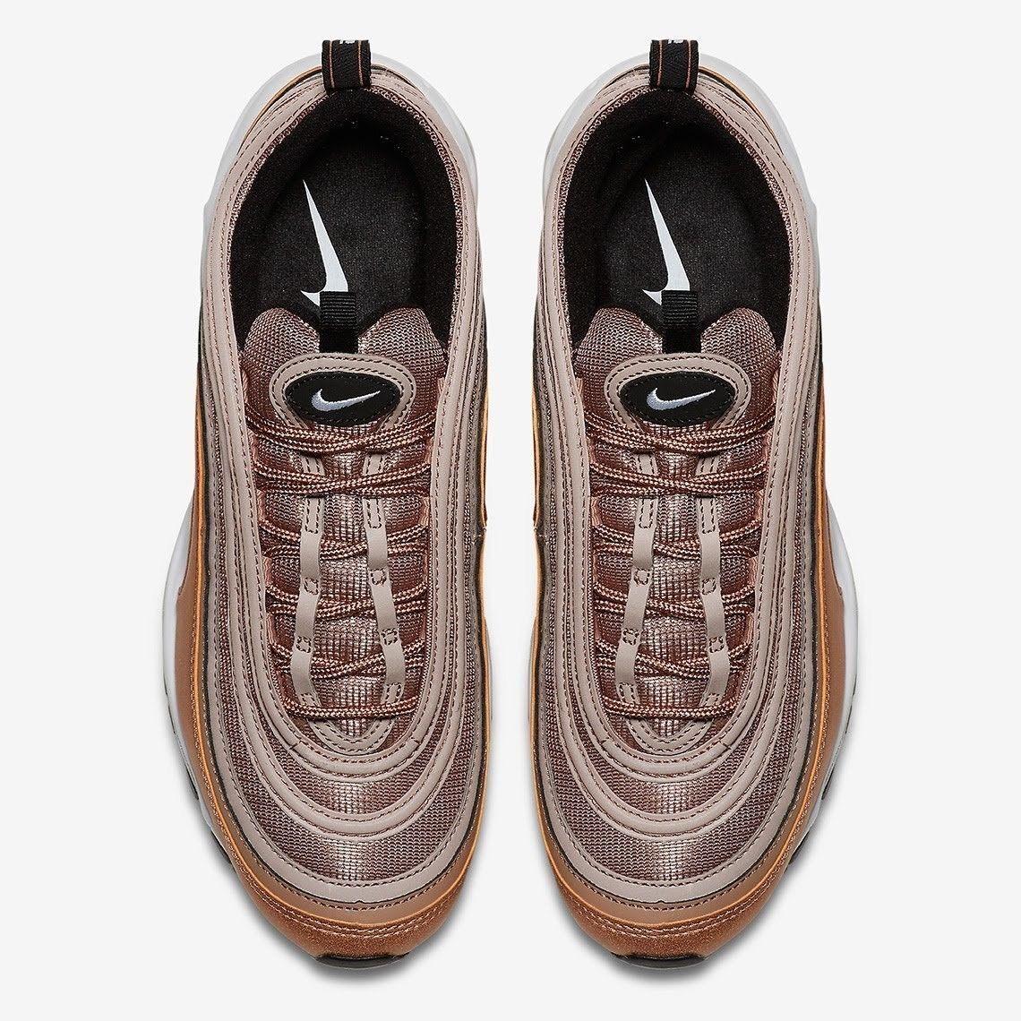 Nike air max 97 staub metallischen bronze größe 11,5.wüste staub 97 weiß - schwarz.921826-200. 6f0095