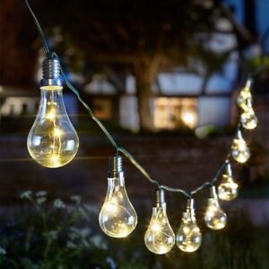 Image Is Loading Eureka Light Bulb String Solar Ed Outdoor Garden