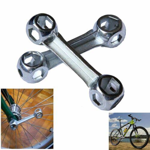 Goods Bicycle Repair Tool Bone Shape Lock Ring Spanner Bike Hexagon Wrench