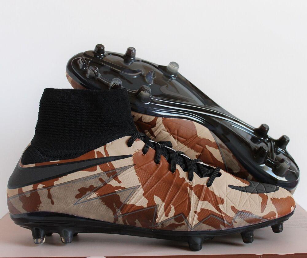 NIKE HYPERVENOM PHANTOM II 2 SE FG CAMO ELM-Noir-BRITISH TAN  Chaussures de sport pour hommes et femmes