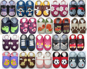 42565a35773ca Image is loading Chausson-child-baby-slippers-leather-shoes-sole-minishoezoo -