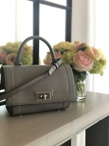 Image is loading Givenchy-Shark-Tooth-Grey-Leather-Shoulder-Bag-Small c3e7097e33950