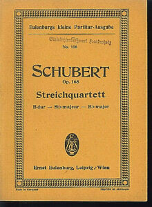 Schubert-Streichquartett-B-Dur-Op-168-Studienpartitur