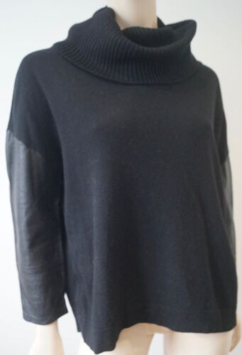4 Cashmere Neck Top 3 Silk Sweater Sleeve Jumper Pinko amp; Black Polo Wool Leather xaR8RZ