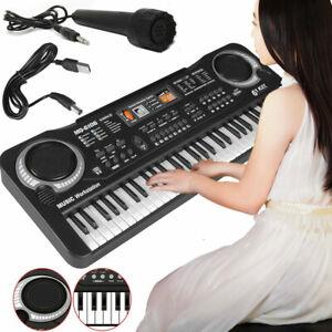 Tastiera Pianola Musicale USB 61 Tasti Suoni Microfono  Pianoforte Principianti