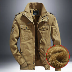064c262e87a Image is loading Mens-Thick-Winter-Jacket-Wool-Lined-Warm-Tractis-
