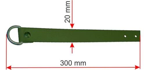 Aufrollriemen olivgrün mit geschweißter Rollschnalle Krampen Ösen