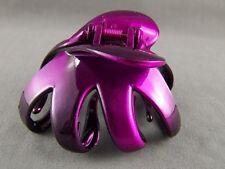 octopus hair clip Purple Black ombre metallic Big barrette claw clamp spider