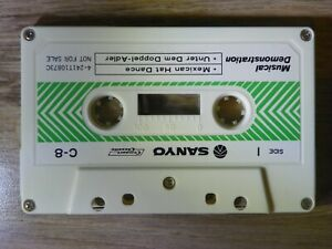Vintage-80s-Rare-SANYO-Genuine-DEMO-Tape-Demonstration-Audio-Cassette-by-C-8