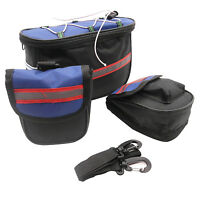 Bike Bicycle Cycling 3 in 1 Top Frame Tube Outdoor Saddle Pannier Bag Pouch