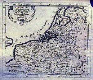 Antique-map-Les-Pays-Bas