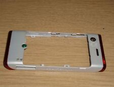 Genuine Original Sony Ericsson W595 Back Housing Chassis Fascia Cover White Red