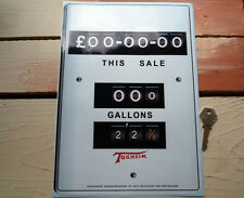 Petrol Pump TOKHEIM Oblong Face Vinyl STICKER 300 x 210mm Vintage Style £ Gas