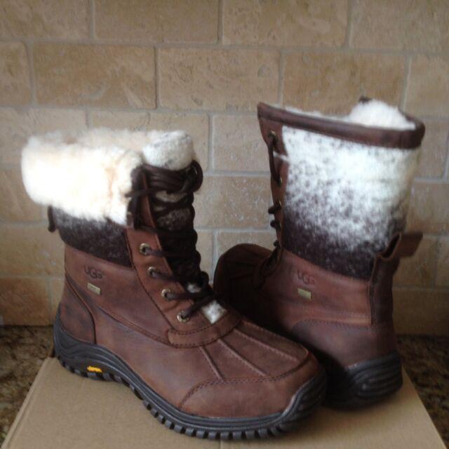 0b5f8e496e2 UGG Adirondack II Chocolate Leather Waterproof Snow Boots Size US 10 Womens  NIB