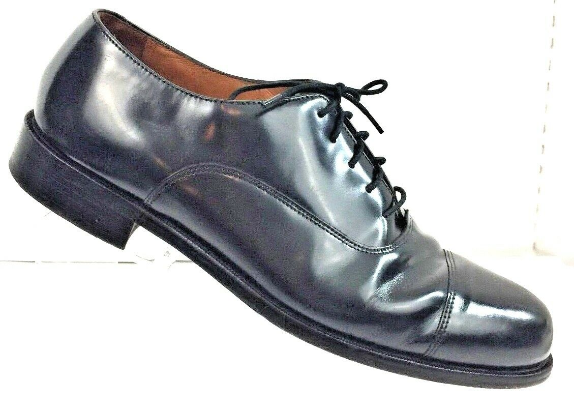 Bostonian Men's Classics First Flex Black Cap Toe Dress shoes Size 9.5M
