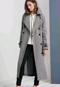 Next Nouveau Trench Veste Mac Coat Longue v8HHnzUx