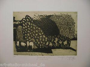 """Norddeutsche artisti: PIT Morell: """"bretoni GIARDINO"""" acquaforte/Aquatinta"""