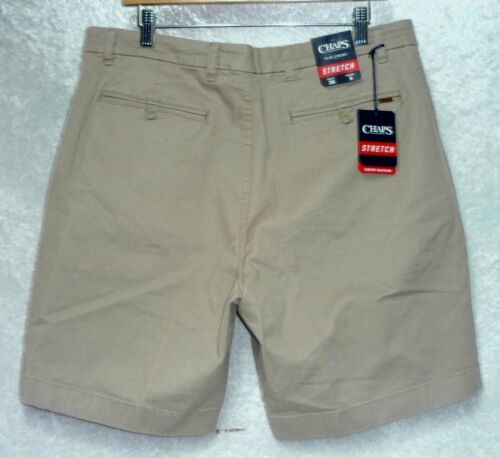 40 NEW CHAPS Men/'s Shorts Stretch Twill Flat Front Comfort size 38 42