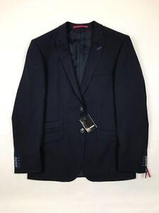 40r Revers Bleu Robson neuf Blazer Roy avec Stitch Taille marine 710fEqw