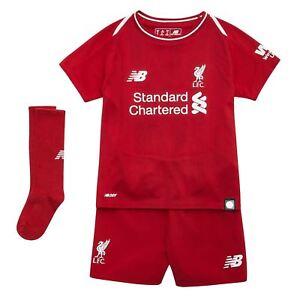 70e8a782ac7 Details about New Balance Kids Liverpool Home Mini Kit 2018 2019 Domestic  Minikits Football